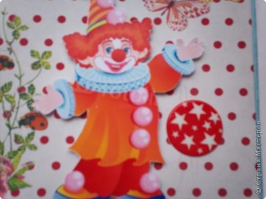 """Две новые открытки с клоунами. Решила попробовать натирки. Понравилось. Первая открытка """"Спасибо"""".  фото 6"""