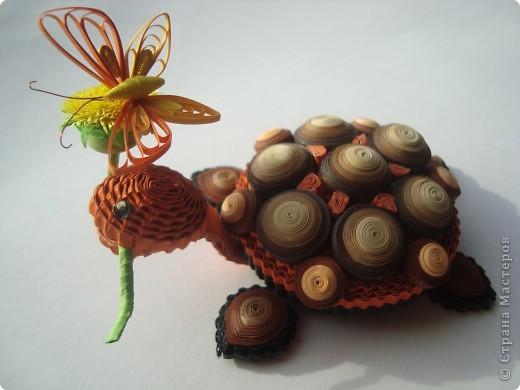"""Поделка на конкурс """" Хомячка""""!!! Можно делать любые объёмные 3D композиции ( не картины и не открытки ).... Присоединяйтесь!!!!  И..... я теперь в команде квиллинг-дизайнеров!!!! Крайне рада этому событию в своей жизни!!!  http://homyachok-scrap-challenge.blogspot.com/2012/05/quilling-5.html  Даю ссылку на сделанный для Хомячка МК черепашеньки: http://homyachok-scrap-challenge.blogspot.com/2012/06/blog-post_05.html#more фото 1"""