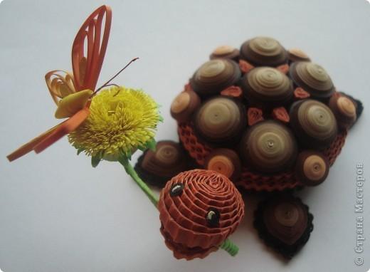 """Поделка на конкурс """" Хомячка""""!!! Можно делать любые объёмные 3D композиции ( не картины и не открытки ).... Присоединяйтесь!!!!  И..... я теперь в команде квиллинг-дизайнеров!!!! Крайне рада этому событию в своей жизни!!!  http://homyachok-scrap-challenge.blogspot.com/2012/05/quilling-5.html  Даю ссылку на сделанный для Хомячка МК черепашеньки: http://homyachok-scrap-challenge.blogspot.com/2012/06/blog-post_05.html#more фото 5"""