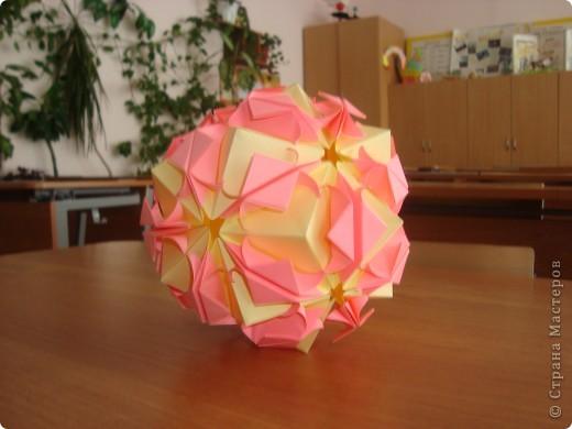 сакура,Poinsettia из книги Mukerji M.-Marvelous modular origami.  фото 2