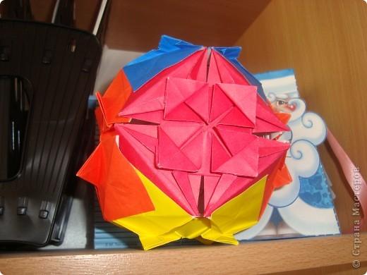 сакура,Poinsettia из книги Mukerji M.-Marvelous modular origami.  фото 3