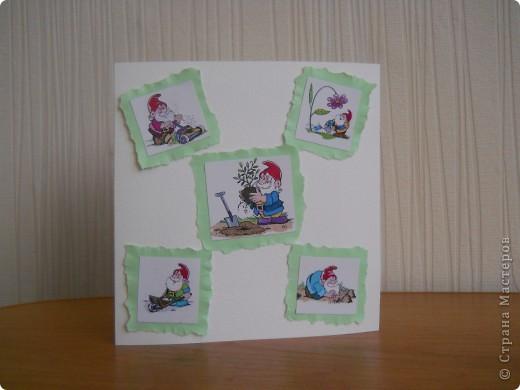 Здравствуйте. В первый раз себя пробую в создании открыток!!!  Раньше смотрела на работы других мастериц и только удивлялась. И вот наконец-то решила попробовать сама, признаюсь честно -  очень довольна результатом:) фото 3