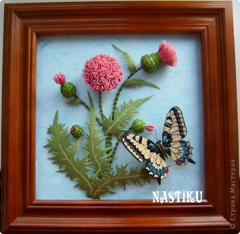 """За несколько последних лет  у меня накопилась несколько бабочек. Решила ими поделиться :) Не то чтобы я была их фанатом, но когда кто-нибудь просит """"Подари мне на день рождения бабочку"""", не могу устоять :)  Вот они в обратном хронологическом порядке  Бабочка махаон и чертополох (более подробно здесь ссылка удалена ПС п.2.4.) фото 1"""