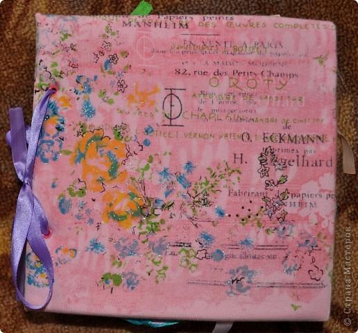Альбом делала для мамы, она у меня знатный садовод. Участвовала с этим альбомом в конкурсе. Это моя первая проба мягкой обложки... фото 1