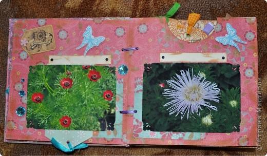 Альбом делала для мамы, она у меня знатный садовод. Участвовала с этим альбомом в конкурсе. Это моя первая проба мягкой обложки... фото 4