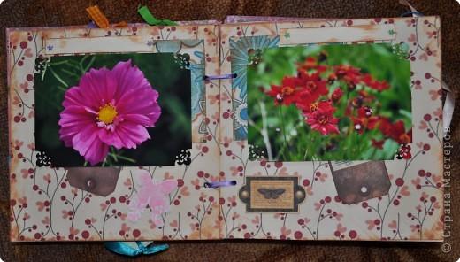 Альбом делала для мамы, она у меня знатный садовод. Участвовала с этим альбомом в конкурсе. Это моя первая проба мягкой обложки... фото 7