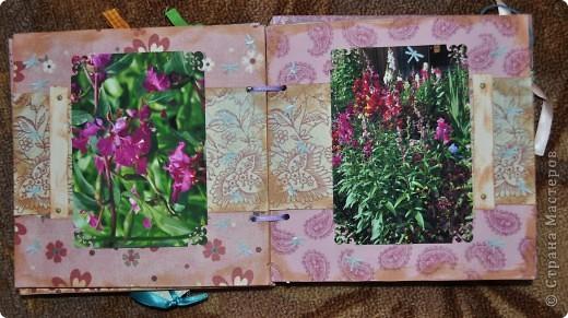 Альбом делала для мамы, она у меня знатный садовод. Участвовала с этим альбомом в конкурсе. Это моя первая проба мягкой обложки... фото 9