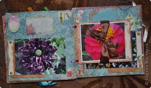 Альбом делала для мамы, она у меня знатный садовод. Участвовала с этим альбомом в конкурсе. Это моя первая проба мягкой обложки... фото 10