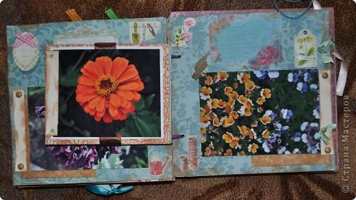Альбом делала для мамы, она у меня знатный садовод. Участвовала с этим альбомом в конкурсе. Это моя первая проба мягкой обложки... фото 11