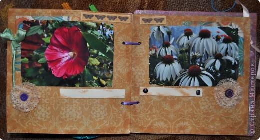Альбом делала для мамы, она у меня знатный садовод. Участвовала с этим альбомом в конкурсе. Это моя первая проба мягкой обложки... фото 16