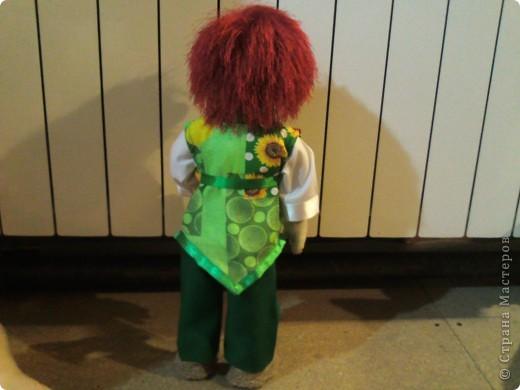 """Купила пряжу """"Джунгли"""" красно-рыжего цвета. Думала,думала и решила сшить мальчика Клепу. фото 3"""