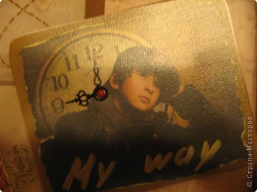 """А вот и мой второй альбом """" Мой путь"""". Сделан он для мужчины на 23 февраля. Фото в альбоме нет, т.к. предполагалось, что владелец альбома сам их подберёт. Обложка - моя гордость! Мне очень нравится. Дальше в деталях. фото 2"""