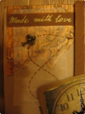 """А вот и мой второй альбом """" Мой путь"""". Сделан он для мужчины на 23 февраля. Фото в альбоме нет, т.к. предполагалось, что владелец альбома сам их подберёт. Обложка - моя гордость! Мне очень нравится. Дальше в деталях. фото 3"""