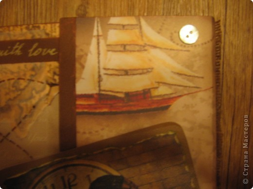 """А вот и мой второй альбом """" Мой путь"""". Сделан он для мужчины на 23 февраля. Фото в альбоме нет, т.к. предполагалось, что владелец альбома сам их подберёт. Обложка - моя гордость! Мне очень нравится. Дальше в деталях. фото 4"""