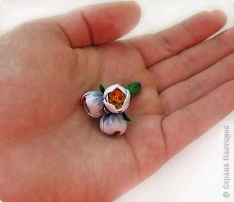 Дорогие жители СМ, поздравляю Всех с праздником! У нас в мае цветут крокусы, такие красивые и нежные... Вот и захотелось сделать украшение с ними. фото 17