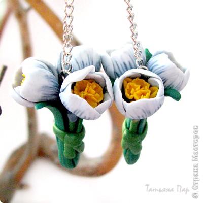 Дорогие жители СМ, поздравляю Всех с праздником! У нас в мае цветут крокусы, такие красивые и нежные... Вот и захотелось сделать украшение с ними. фото 1