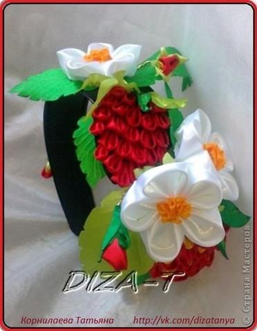 ну а это ободок земляничная поляна!!!  украсит любое платье вашей принцессы, и обеспечит хорошим настроением в любое время года!! фото 1