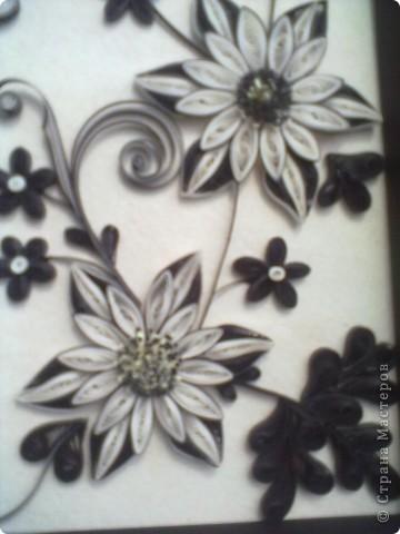 Очень понравилась работа Натальи-К  http://stranamasterov.ru/node/211819 . Сделала рамку из бумаги для пастели, но  получилась маленькой, вот и тесновато для цветов стало. Фон делала сухой пастелью. фото 5
