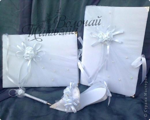 Аксессуары для свадьбы.Книга пожеланий, папка для свидетельства, туфелька.