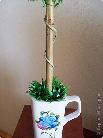 Сделала это деревце потому, что очень хотела задействовать кружку, форма у нее интересная) фото 4