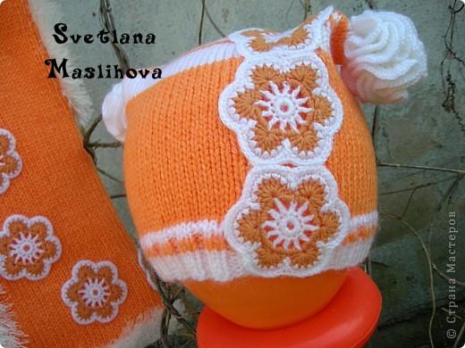 Гардероб Вязание Вязание крючком Комплекты с цветочками для девчушек Пряжа фото 8