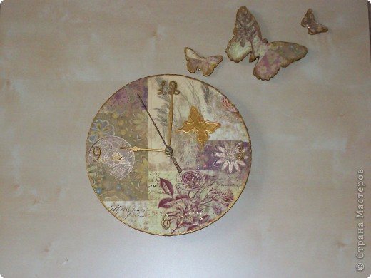 Часы  (декупаж) фото 1