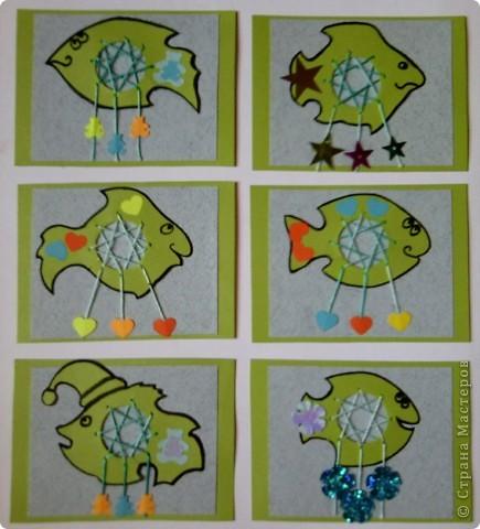 """№18 - """"Ловцы снов"""". Сделаны по аналогии с рыбками из соленого теста, но только из картона. фото 1"""