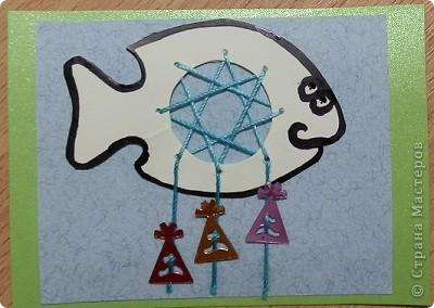 """№18 - """"Ловцы снов"""". Сделаны по аналогии с рыбками из соленого теста, но только из картона. фото 2"""