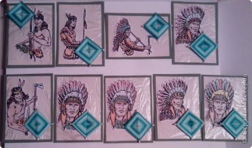 """№18 - """"Ловцы снов"""". Сделаны по аналогии с рыбками из соленого теста, но только из картона. фото 5"""
