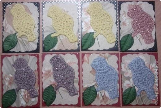 """№18 - """"Ловцы снов"""". Сделаны по аналогии с рыбками из соленого теста, но только из картона. фото 18"""