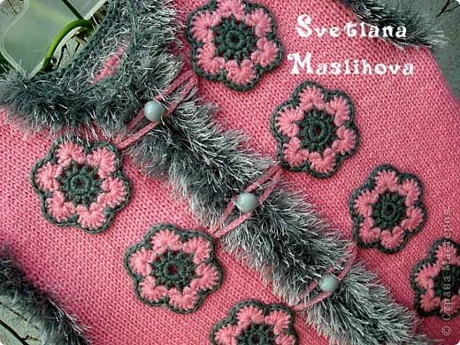 Гардероб Вязание Вязание крючком Комплекты с цветочками для девчушек Пряжа фото 3