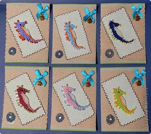 """№18 - """"Ловцы снов"""". Сделаны по аналогии с рыбками из соленого теста, но только из картона. фото 30"""