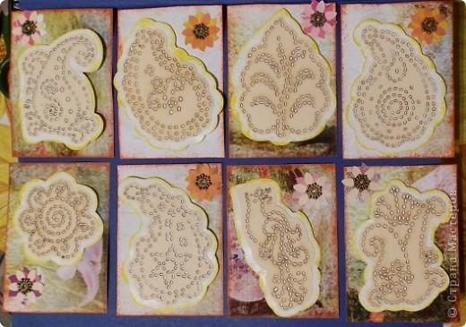 """№18 - """"Ловцы снов"""". Сделаны по аналогии с рыбками из соленого теста, но только из картона. фото 32"""