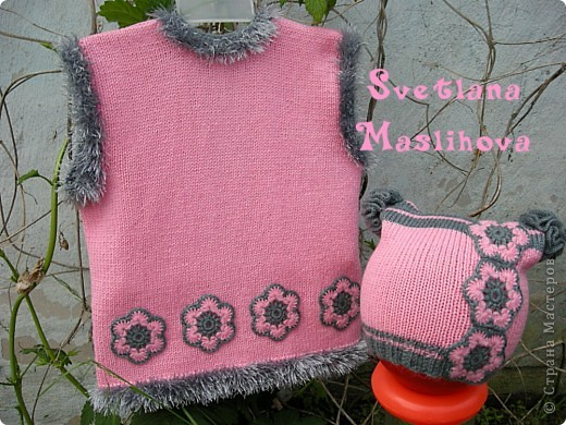 Гардероб Вязание Вязание крючком Комплекты с цветочками для девчушек Пряжа фото 2