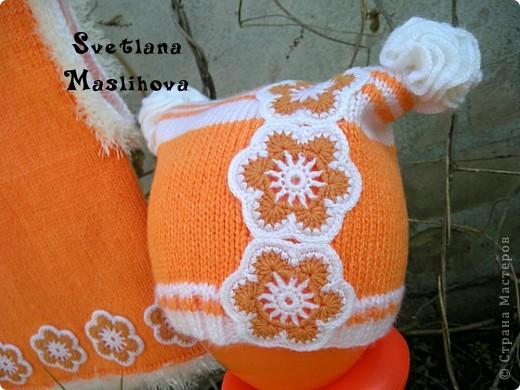 Гардероб Вязание Вязание крючком Комплекты с цветочками для девчушек Пряжа фото 9