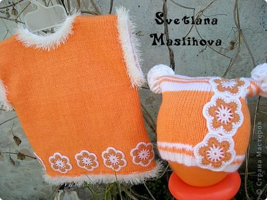 Гардероб Вязание Вязание крючком Комплекты с цветочками для девчушек Пряжа фото 6