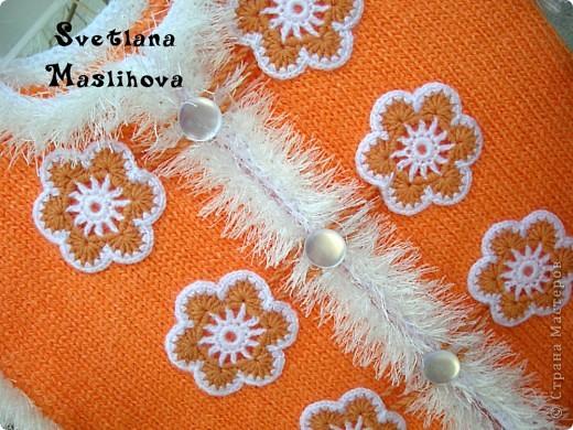 Гардероб Вязание Вязание крючком Комплекты с цветочками для девчушек Пряжа фото 7