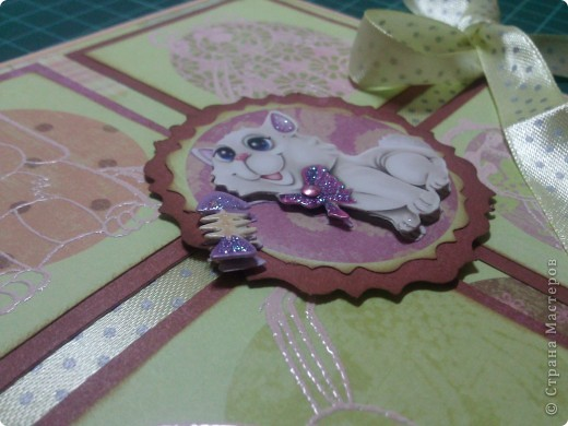 7 мая исполнилось 2 годика моей любимой крестнице Варюшке! И вот я сделала ей на память (подрастет - оценит) такую открыточку )) фото 4