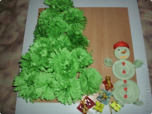 Снеговик (повторюшка), мы сделали композицию на школьный конкурс новогодних композиций