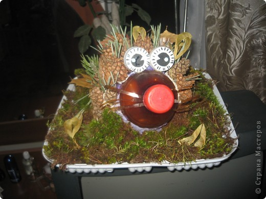 С сыном в школу на праздник осени сделали вот такого ежика. Идею взяли в стране мастеров!
