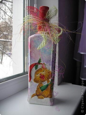 Подарочная бутылка на Новый год фото 2