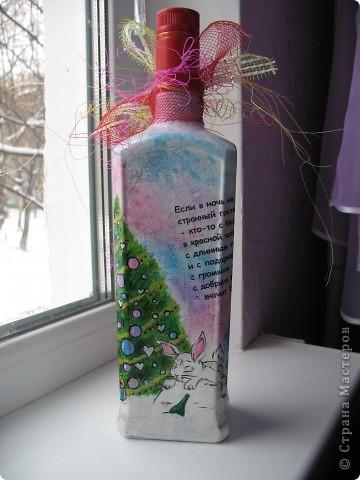 Подарочная бутылка на Новый год фото 3