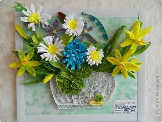 Корзинка с весенними цветами, спасибо Стране Мастеров за вдохновение!