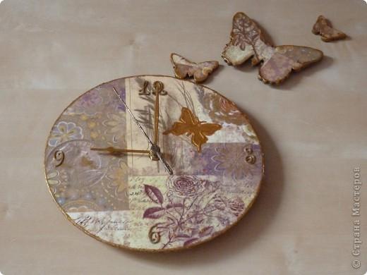 Часы  (декупаж) фото 2