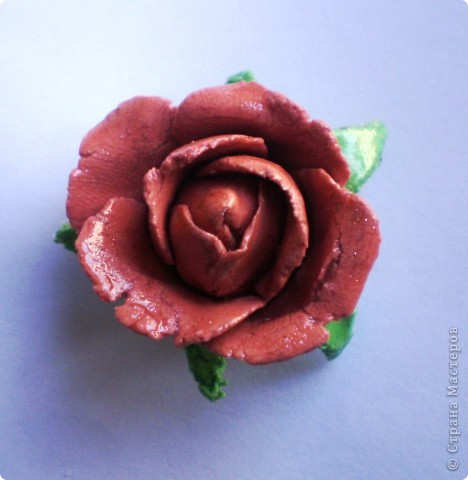 Белая роза из холодного фарфора  (первая попытка :)) фото 3