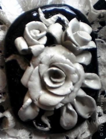 Белая роза из холодного фарфора  (первая попытка :)) фото 7