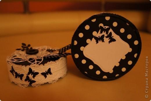 Шкатулка в монохромной черно-белой гамме фото 3