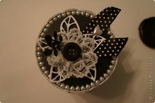 Шкатулка в монохромной черно-белой гамме фото 4