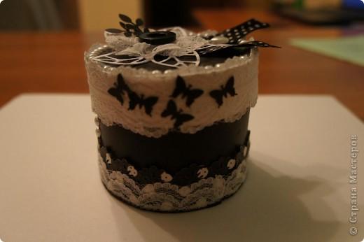 Шкатулка в монохромной черно-белой гамме фото 1