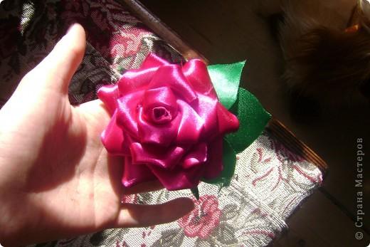 Моя первая розочка-канзаши))) фото 2